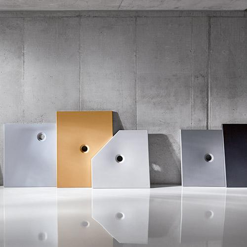 Mehrere Modelle unterschiedlicher Duschflächen von BetteFloor