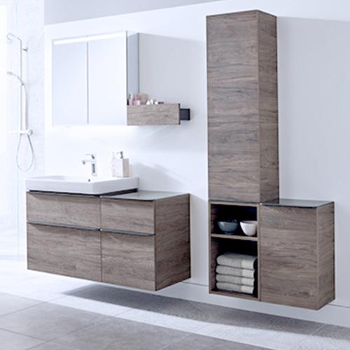 Komplette Badserien bieten passende Schränke fürs Bad