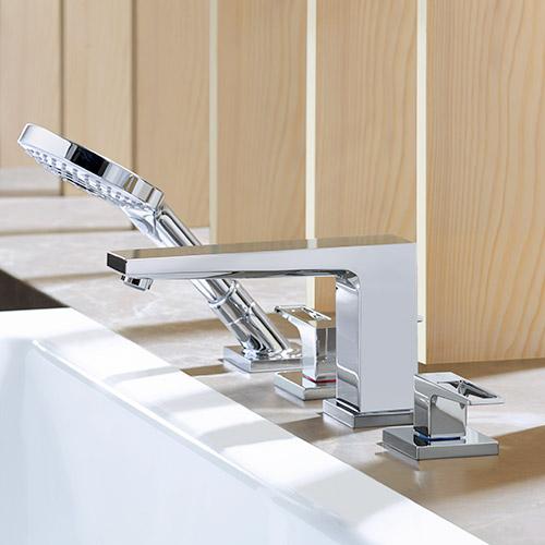 Mit modernen Badarmaturen von hansgrohe kann man einfach umweltbewusst Wasser sparen.